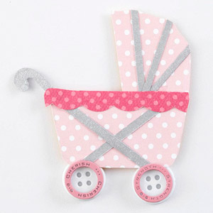 Baby carriage paper piecing, stroller