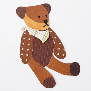Teddy bear paper piecing, stuffed animal
