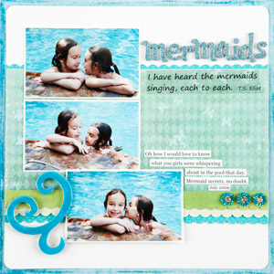 Mermaids Scrapbook Page