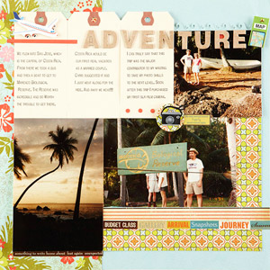 Adventure Scrapbook Page
