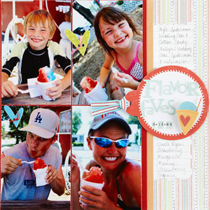 Flavor Faves Scrapbook Layout