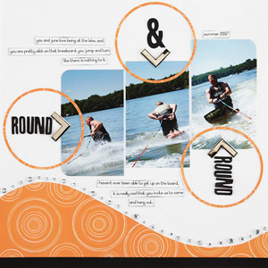 Knee boarding Summer Scrapbook Page