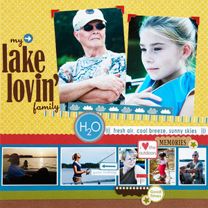 Lake Lovin' Family Scrapbook Page