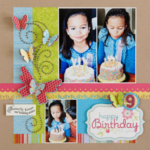 Happy Birthday scrapbook page