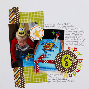 Happy 6th Scrapbook Page