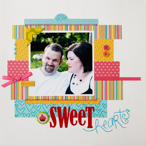 Sweet Hearts Scrapbook Page