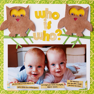 Twins Scrapbook Page