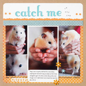 Hamster Scrapbook Page