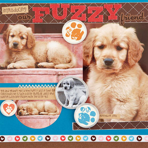Fuzzy Scrapbook Page