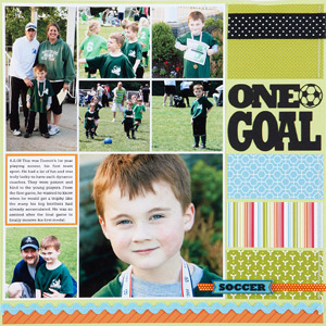 One Goal Scrapbook Page