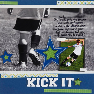 Kick It Scrapbook Page