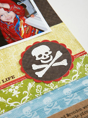 Pirate detail Scrapbook Page
