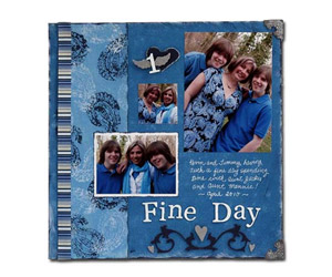 One Fine Day Adirondack Acrylic Paint Dabber Scrapbook Page by Patti Behan