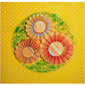 Make Paper Flower Coasters