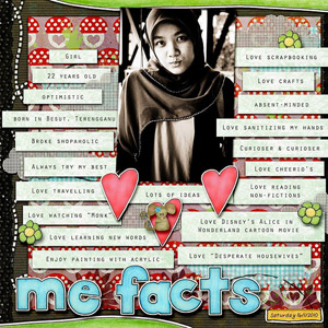 All about me scrapbook layouts