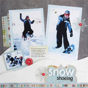 Snowscape Winter Scrapbook Page