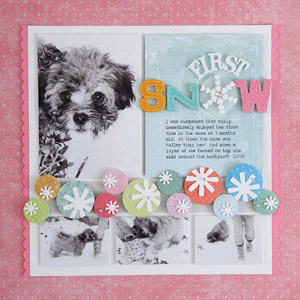 Pretty Punch Winter Scrapbook Page