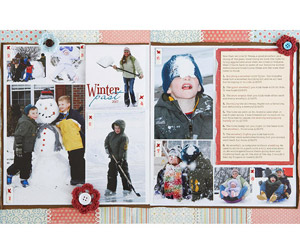 Snow Play Winter Scrapbook Page