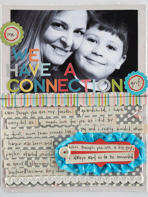 Grandchildren Scrapbook Page