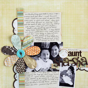 Aunt Sasha Scrapbook Page