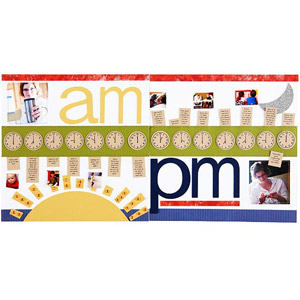 A.M. to P.M. Scrapbook Page