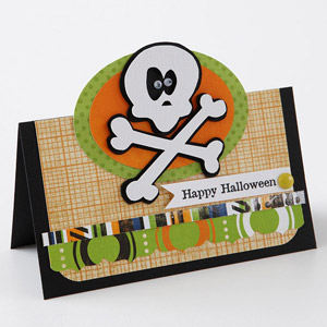 Spooky Skeleton Paper Piecing