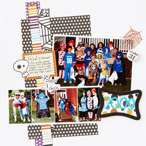 Leery Layered Halloween Scrapbook Page