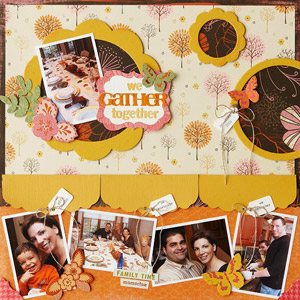 Envelope Holder Thanksgiving Scrapbook Page