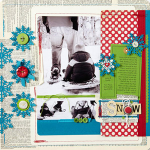 Vintage Winter Scrapbook Page