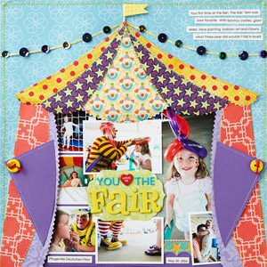 Fair carnival paper piecings