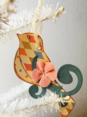 Pastel Bird Ornament