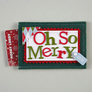 Merry Gift Card Holder