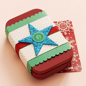 Star Tin Gift Card Holder