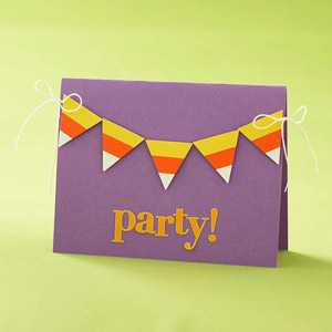 Candy Corn Banner Invite