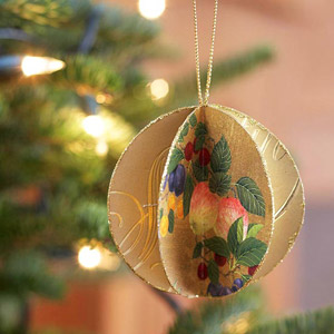Golden Paper Ornament