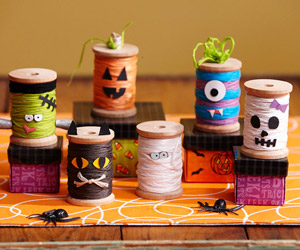 Halloween Spool Figurines
