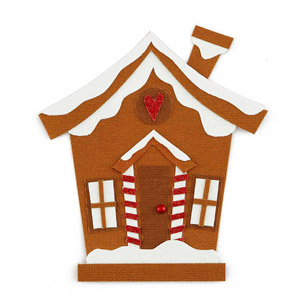 Gingerbread House Paper Piecing