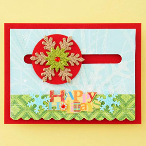 Sliding Snowflake Card
