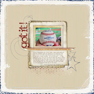 Fly Ball Baseball Scrapbook Page