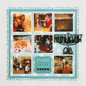 Hanukkah Collage Scrapbook Page