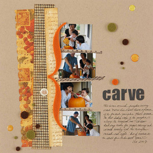 Creative Carving Scrapbook Page