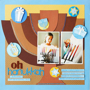 Menorah Scrapbook Page