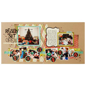 Christmas Frenzy Scrapbook Layout