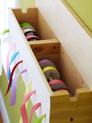 Wooden Ribbon Display
