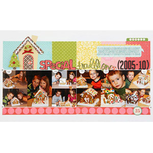 Gingerbread House Scrapbook Layout