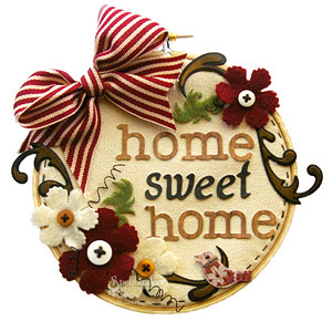 Home Sweet Home Embroidery Canvas by: Tina McDonald
