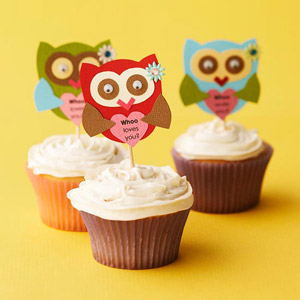 Owl Cupcake Picks
