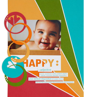 Linked Circles Scrapbook Page