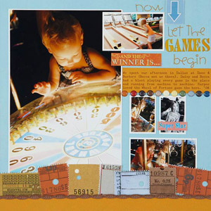 Wheel of Fortune Scrapbook Layout