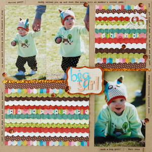Patterned Fringes Scrapbook Page